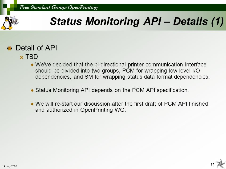 Status Monitoring API – Details (1)