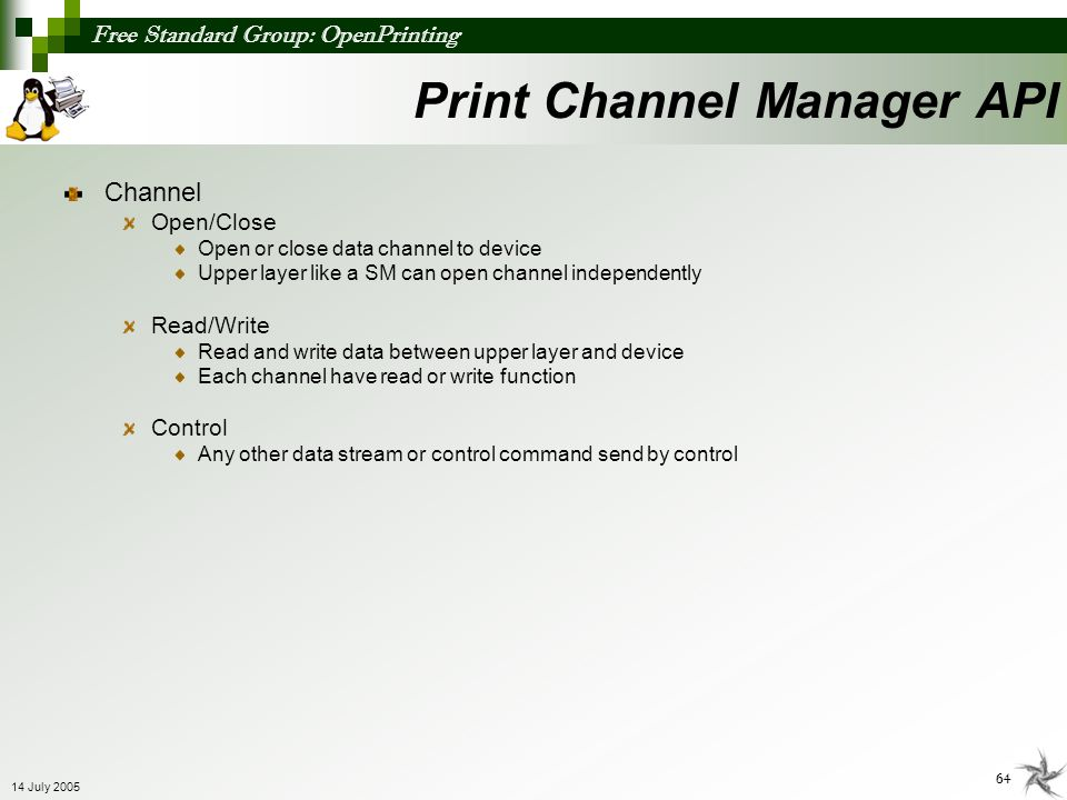 Print Channel Manager API