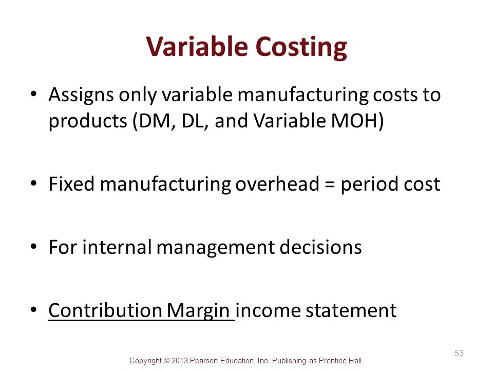 variable cost and contribution margin Total variable costs $3400 fixed costs sales = variable cost + fixed cost + target operating profit 30,000($65) = 30,000 = contribution margin - fixed costs = operating profit) (note that breakeven in sales dollars x cmr = fixed costs.