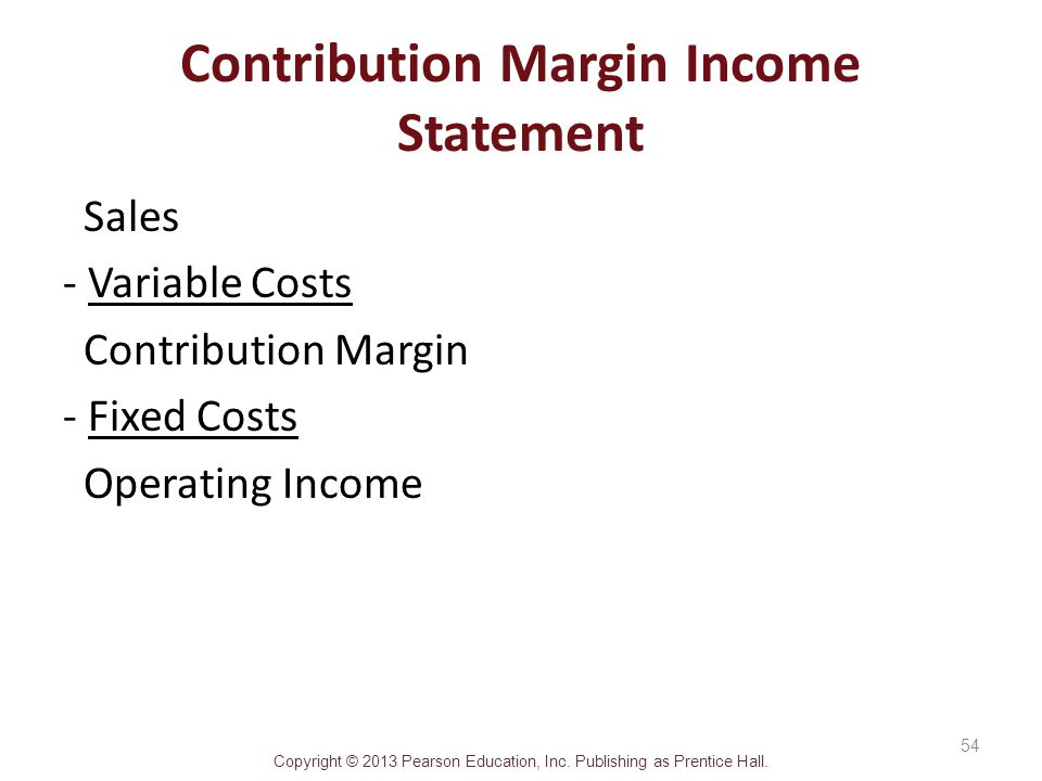 How to convert absorption income statement to a contribution margin income statement