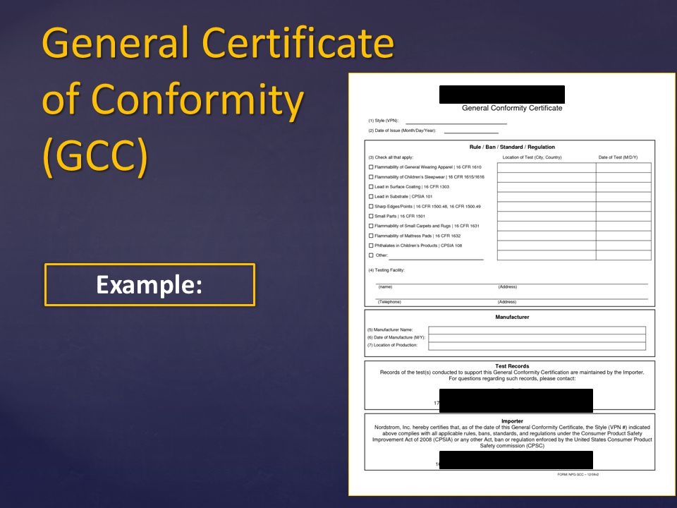 certificate of conformity template - u s consumer product safety commission ppt video online