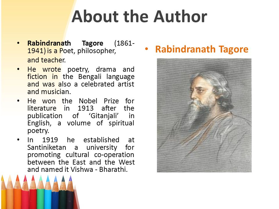 About the Author Rabindranath Tagore