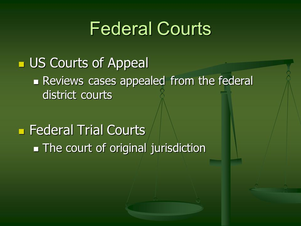 Federal Courts US Courts of Appeal Federal Trial Courts