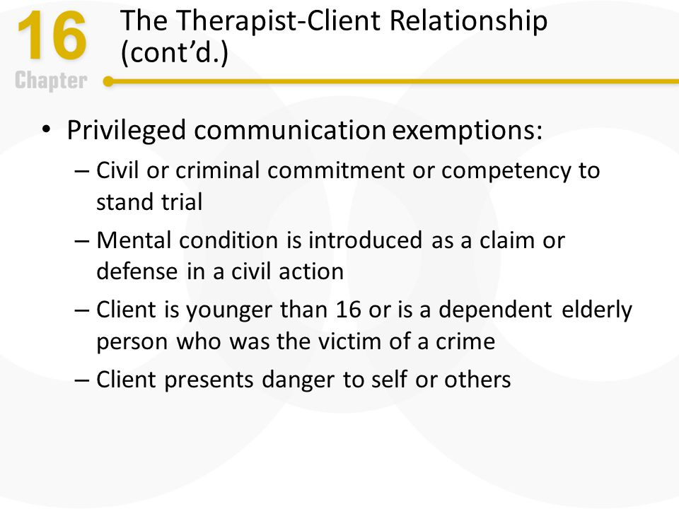 physical therapist and client relationship