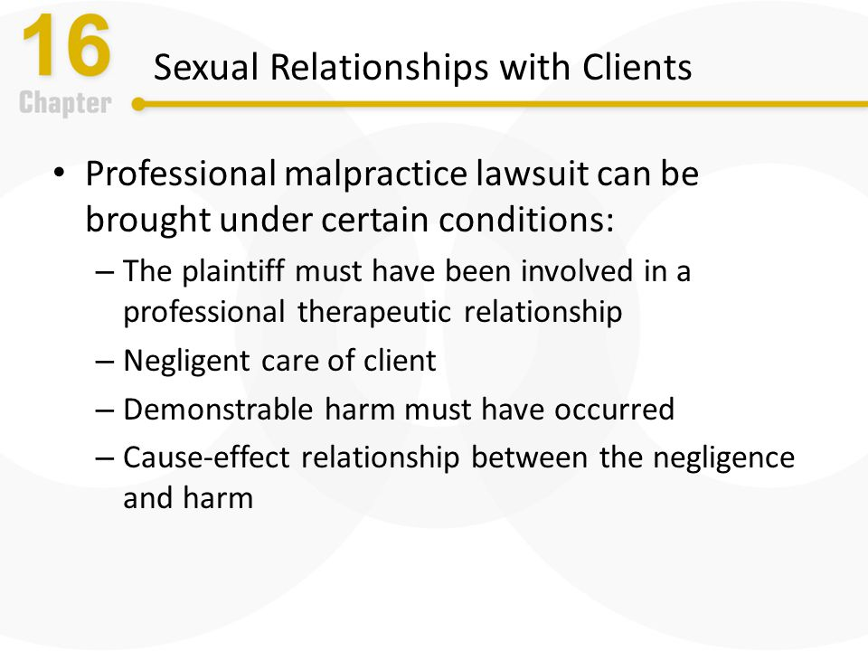 therapist and client relationship ethics law
