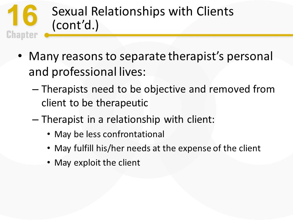 Therapist dating clients