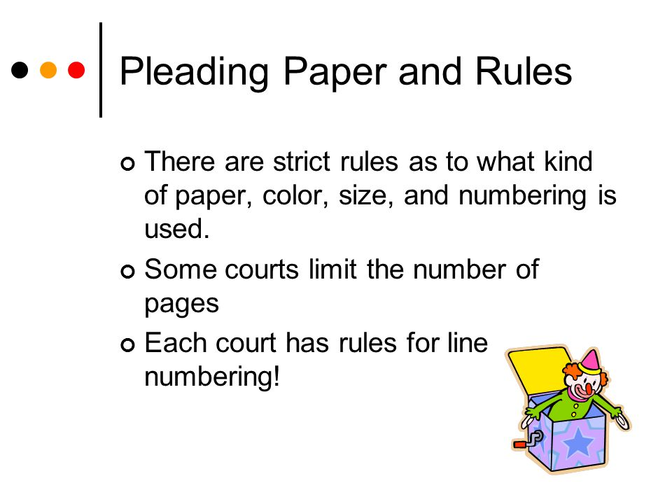 what is pleading paper