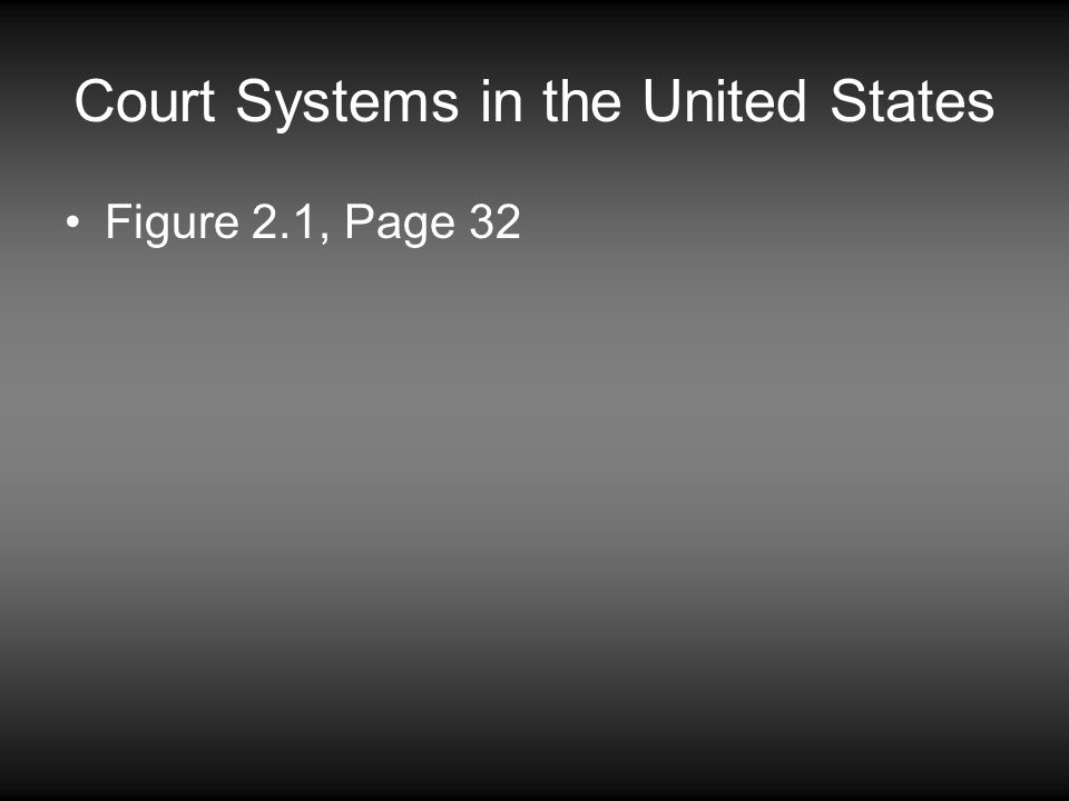 Court Systems in the United States