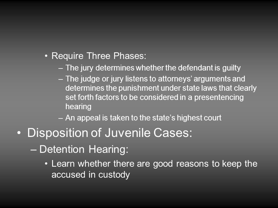 Disposition of Juvenile Cases: