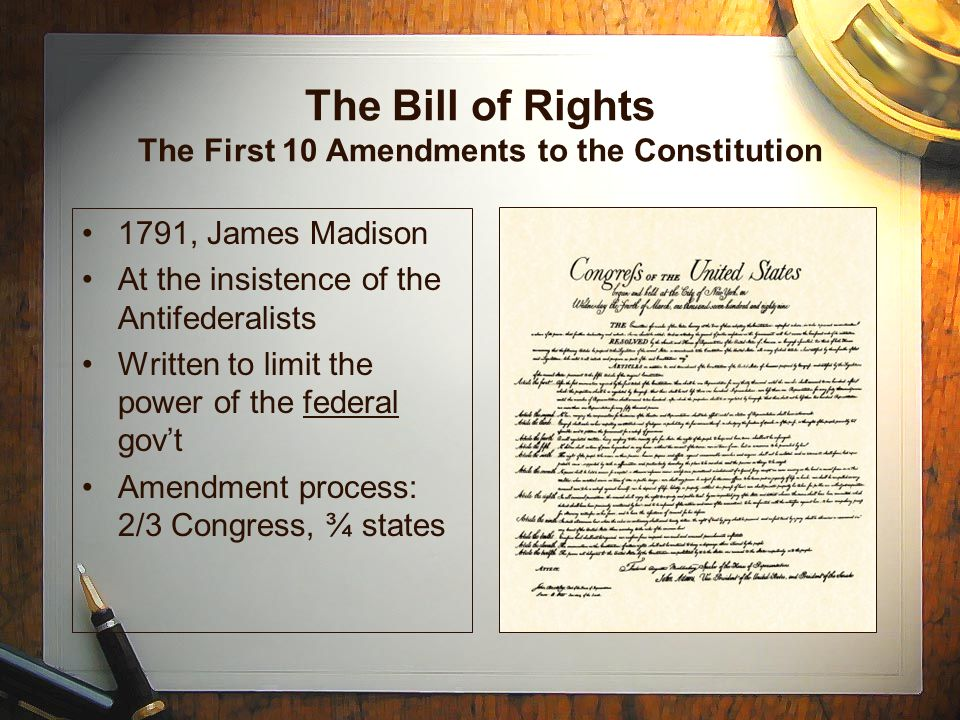 an analysis of the bill of rights the first ten amendments of the united states constitution The first 10 amendments to the constitution of the united states of america constitute the bill of rights these 10 amendments were designed and ratified to prevent the federal government from.