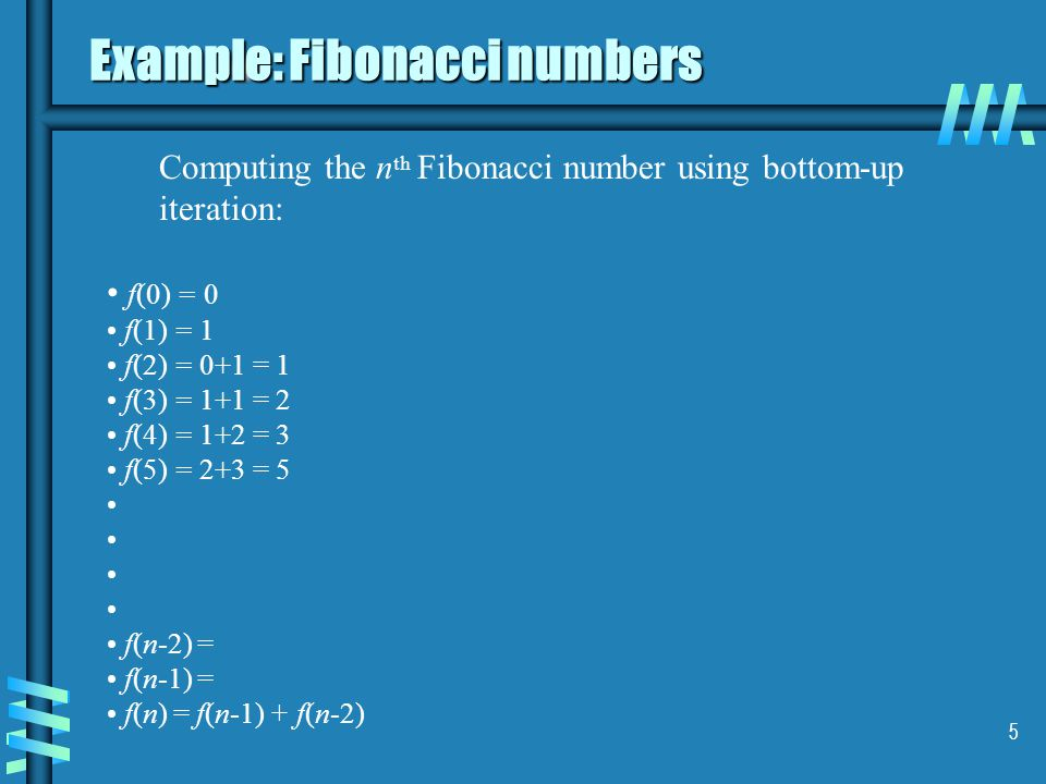 Example: Fibonacci numbers