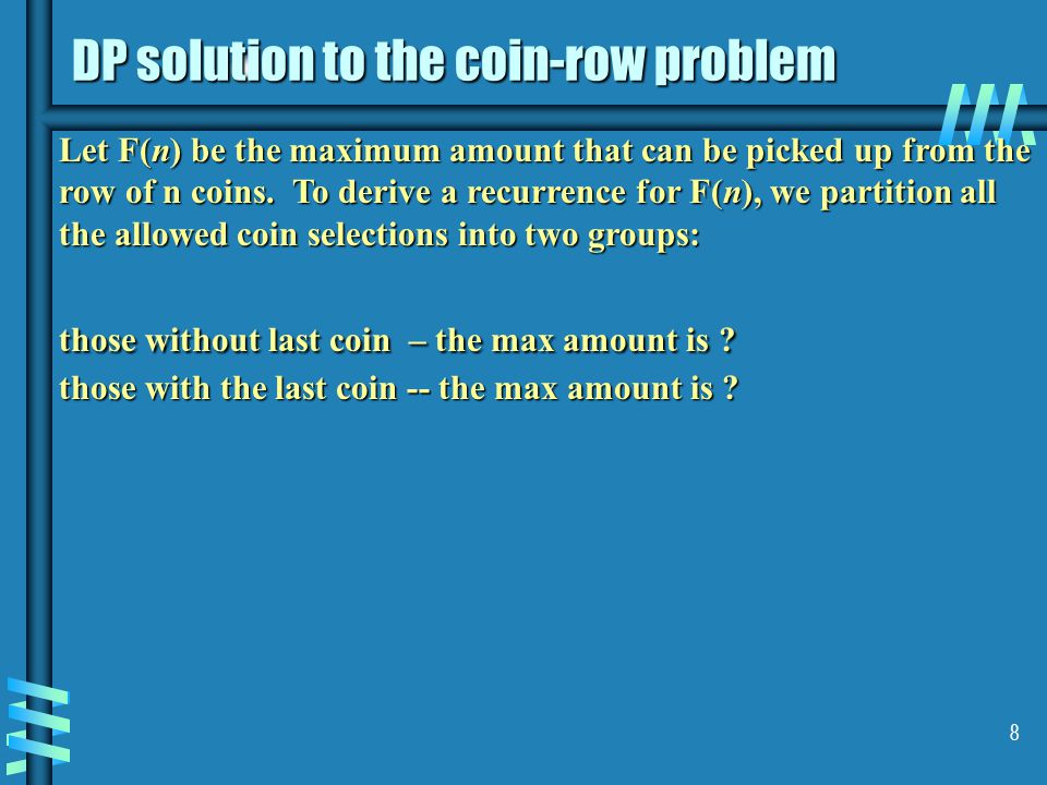 DP solution to the coin-row problem