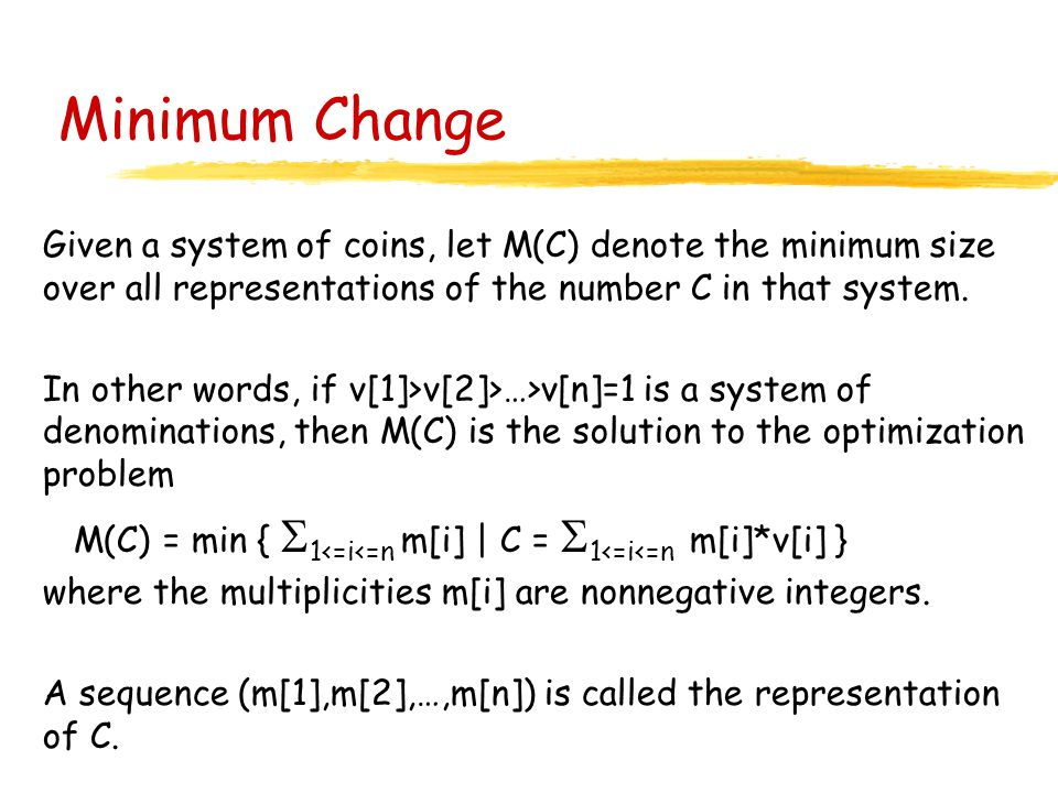 Minimum coin change problem c++ : Ebay coins canada questions