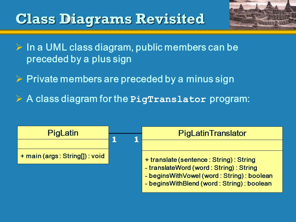 Chapter 4 writing classes ppt download class diagrams revisited ccuart Images