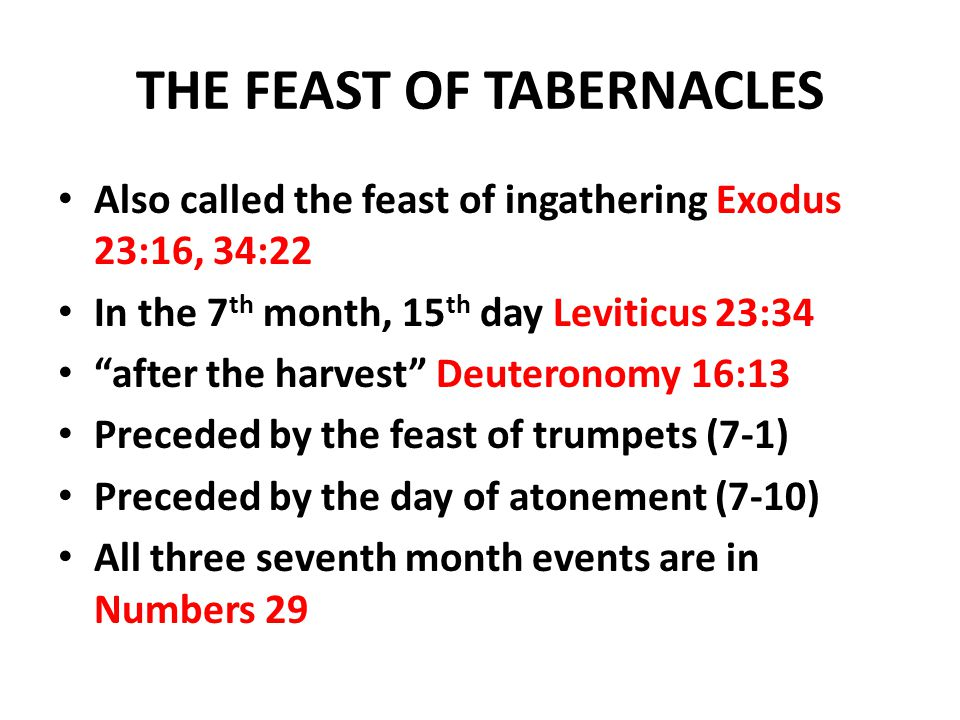 THE FEAST OF TABERNACLES  sc 1 st  SlidePlayer & THE FEAST OF TABERNACLES - ppt download