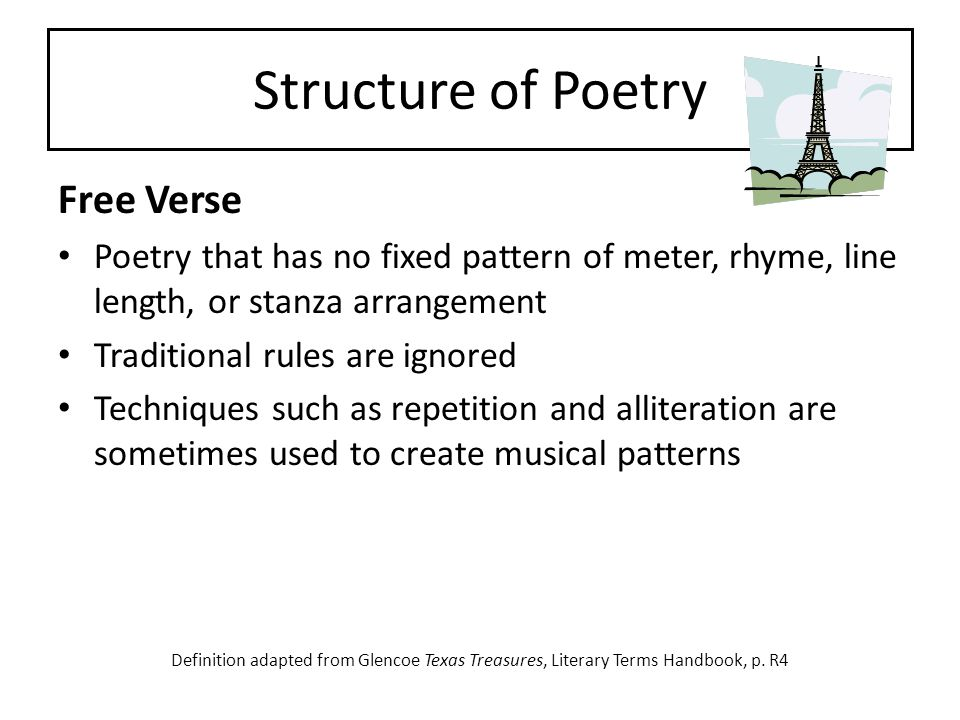 Structure of Poetry Free Verse