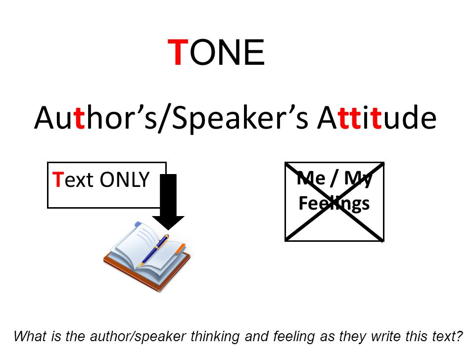 Author's/Speaker's Attitude