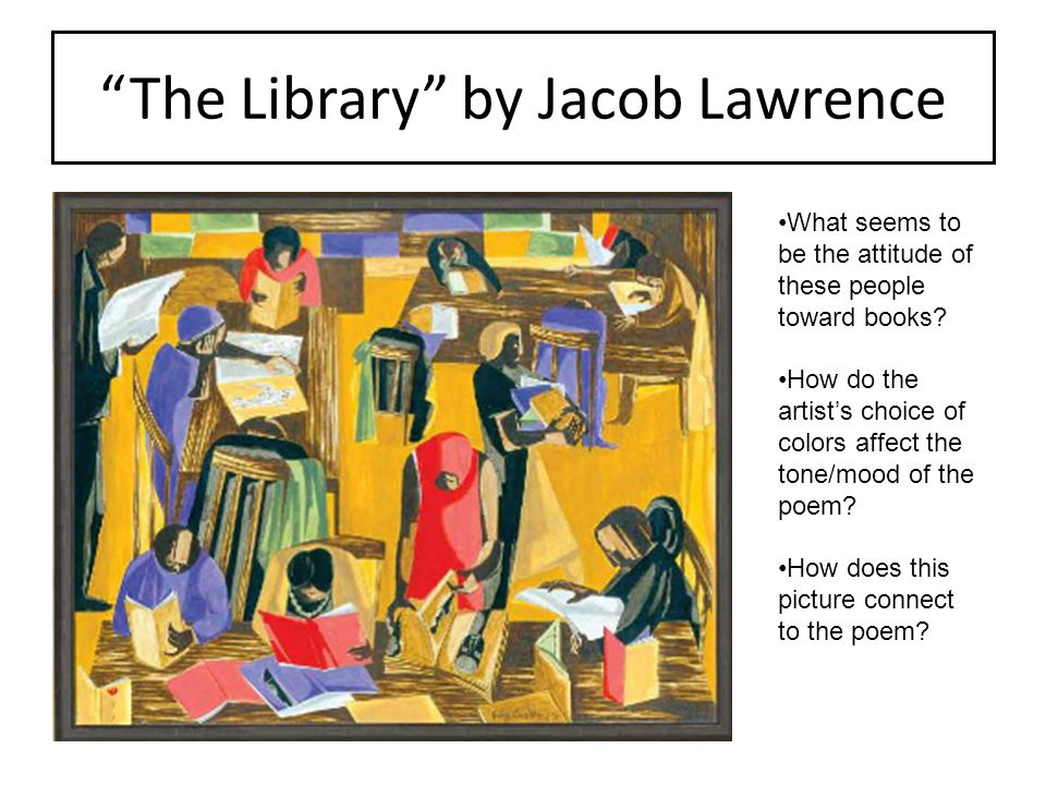 The Library by Jacob Lawrence