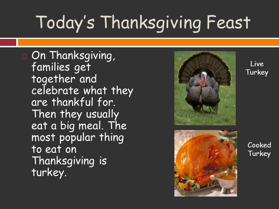 Thanksgiving ppt video online download for What did they eat at the first thanksgiving