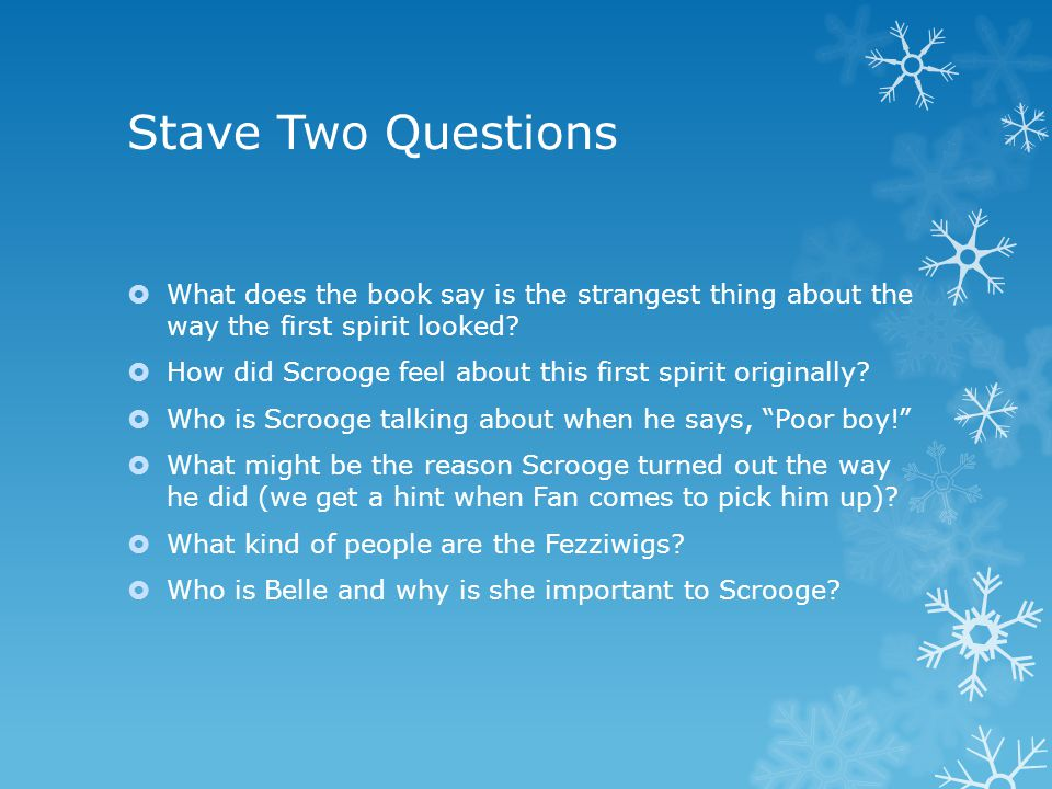 Stave Two Questions What does the book say is the strangest thing about the way the first spirit looked