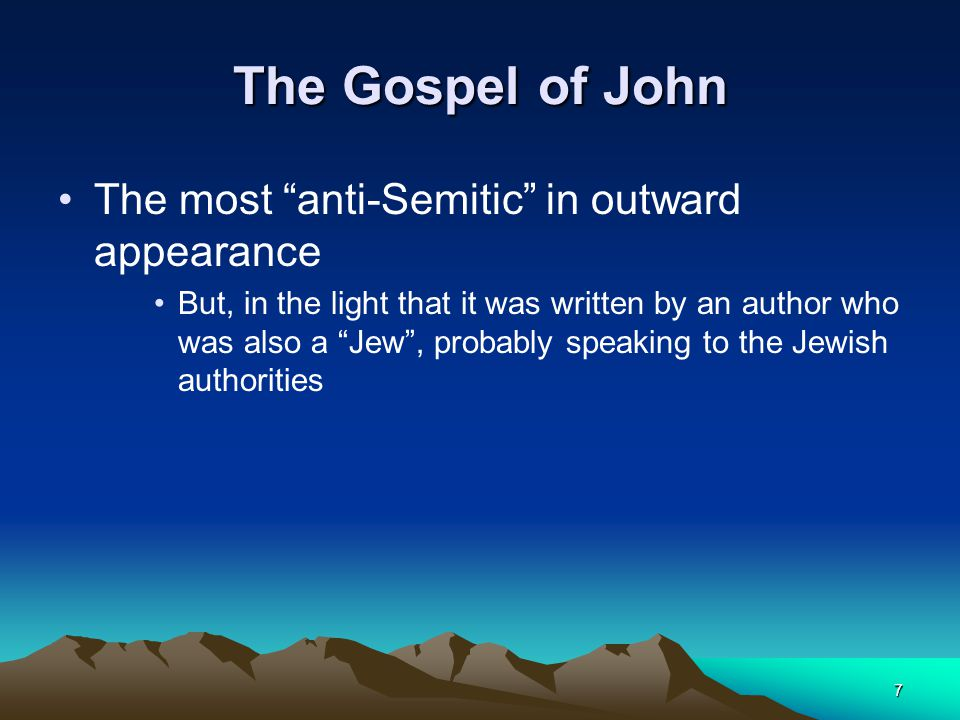 is john written to a jewish History of god's holy bible and the so-called jews the etymology of the word jew in his classic facts are facts, jewish historian, researcher and scholar benjamin freedman writes.