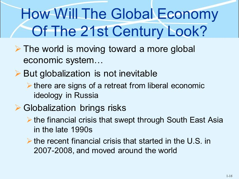 How Will The Global Economy Of The 21st Century Look