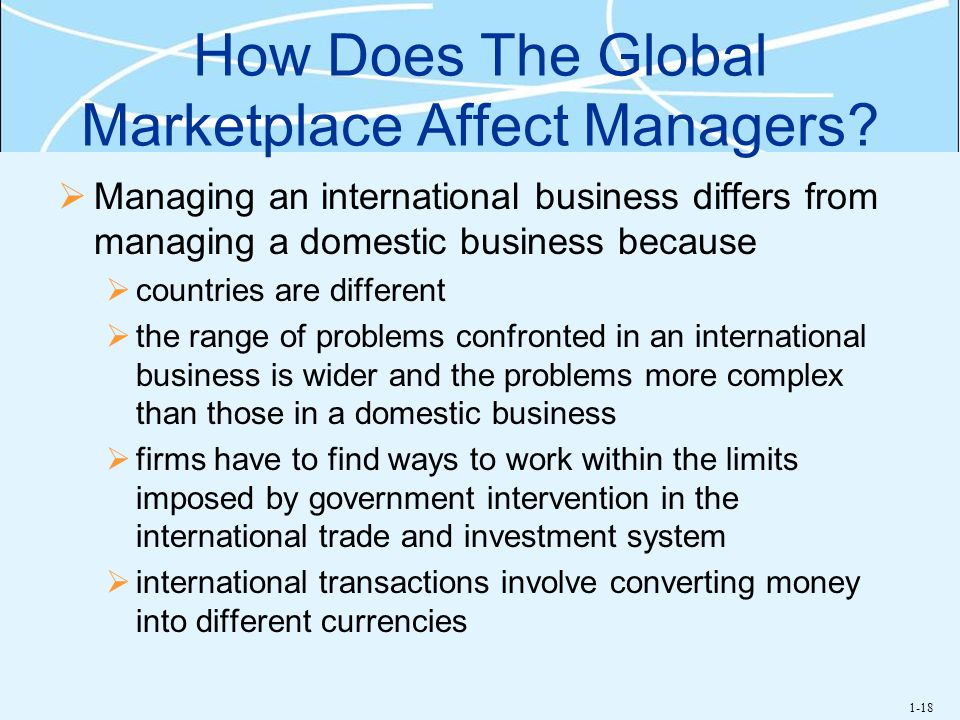 How Does The Global Marketplace Affect Managers