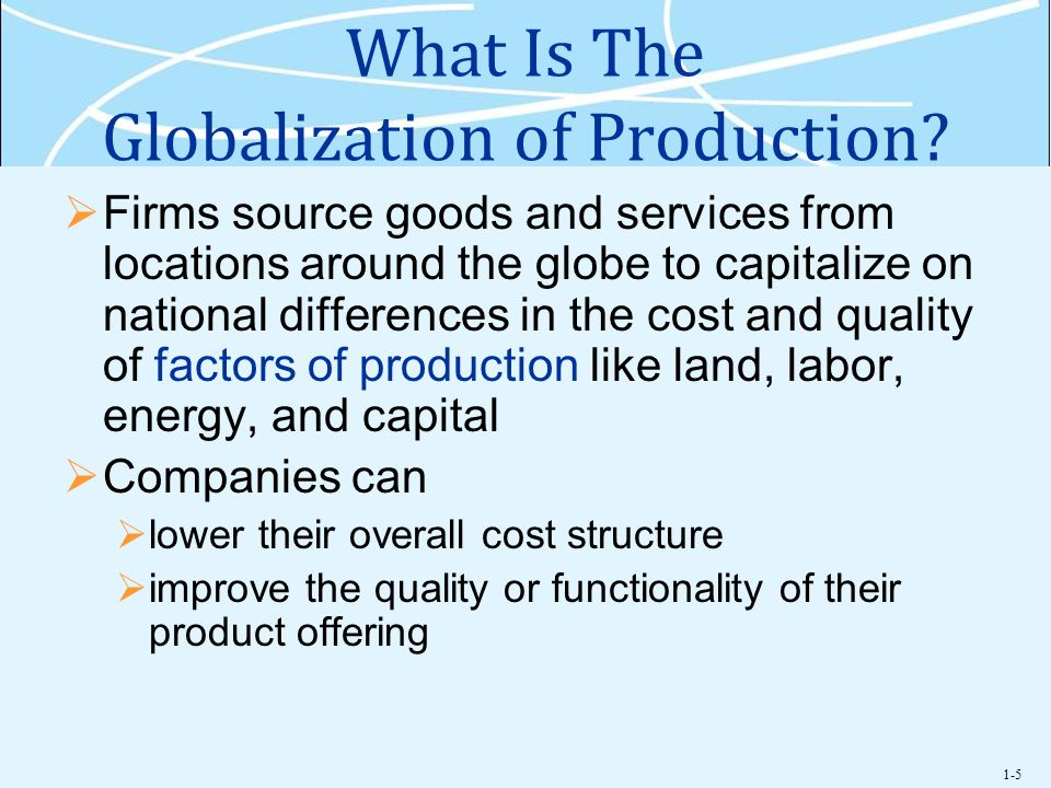 What Is The Globalization of Production