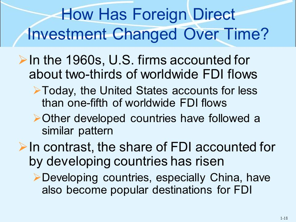 How Has Foreign Direct Investment Changed Over Time