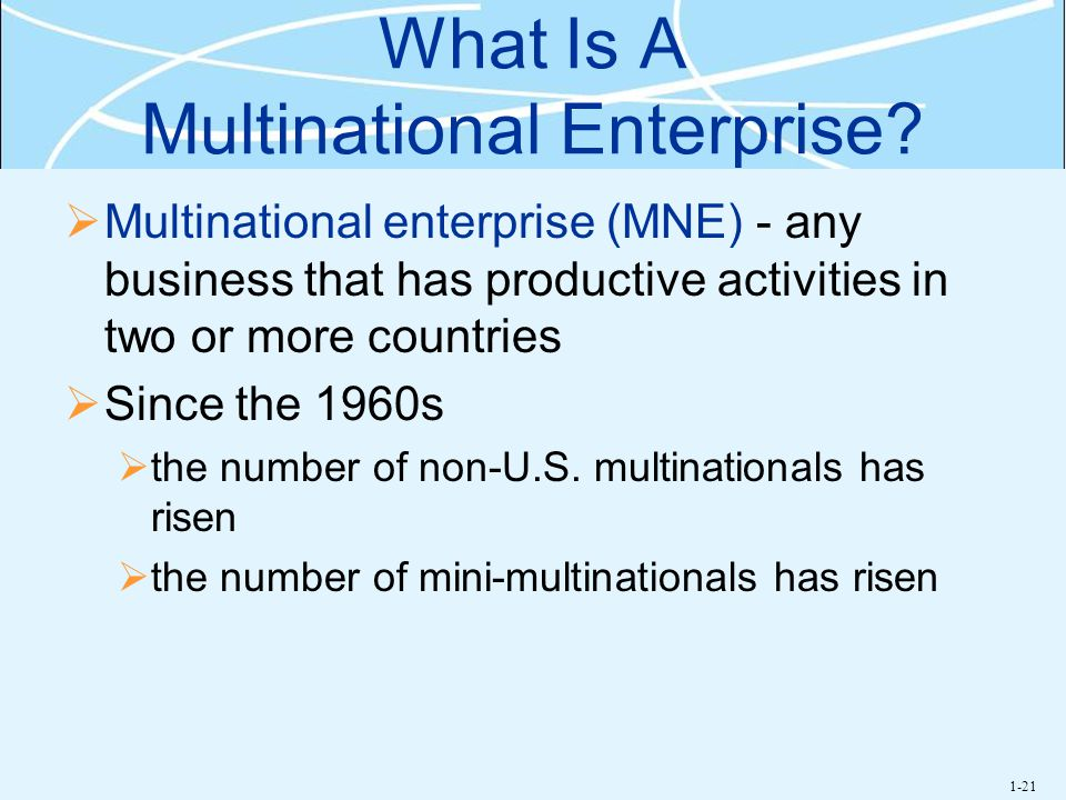 What Is A Multinational Enterprise