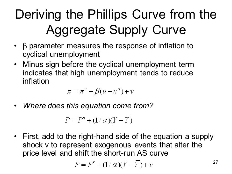 aggregate supply and the short run tradeoff Answer to what do the distinctions between short-run aggregate supply and long -run  they reflect a short-run trade-off between inflation and unemployment.