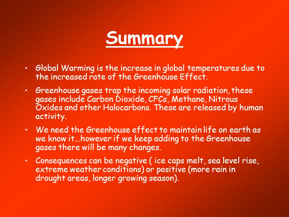 an overview of global warming The global warming potential is a measure of how much a given mass of a chemical substance contributes to global warming over a given period global warming potential is the ratio of the warming caused by a substance to the warming caused by a similar mass of carbon dioxide.