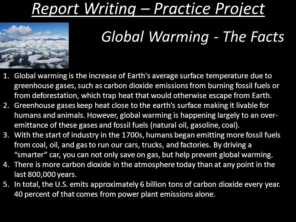 Write a short article about global warming
