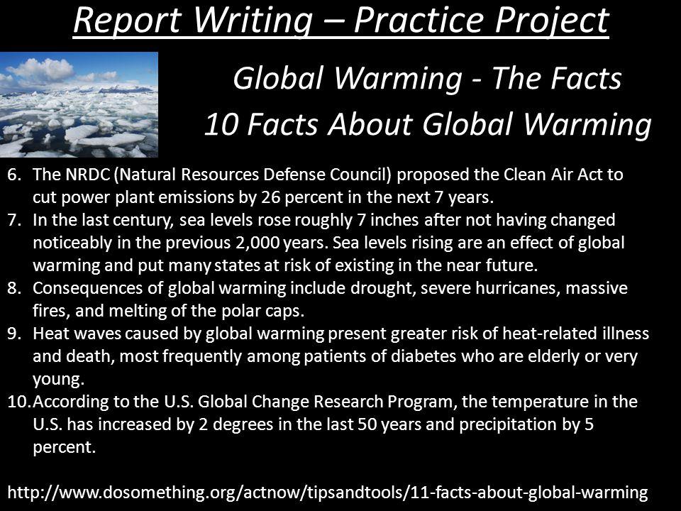 report global warming