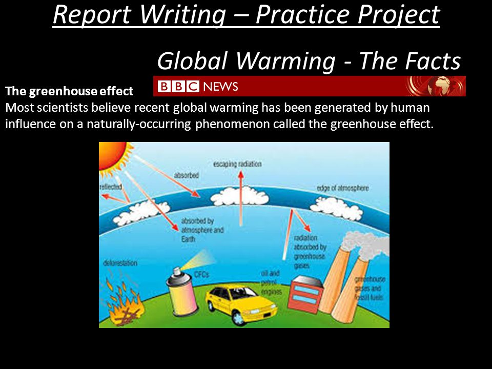 report writing on global warming