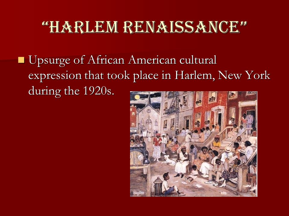 an overview of the harlem renaissance and the expression of african american culture Overview the harlem renaissance brought together legions of black writers,   who celebrated black culture and romanticized its connections to an african past   some of the expressions of the harlem renaissance (also known as the new.