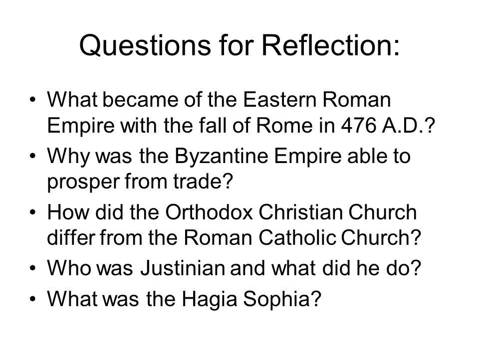 Questions for Reflection:
