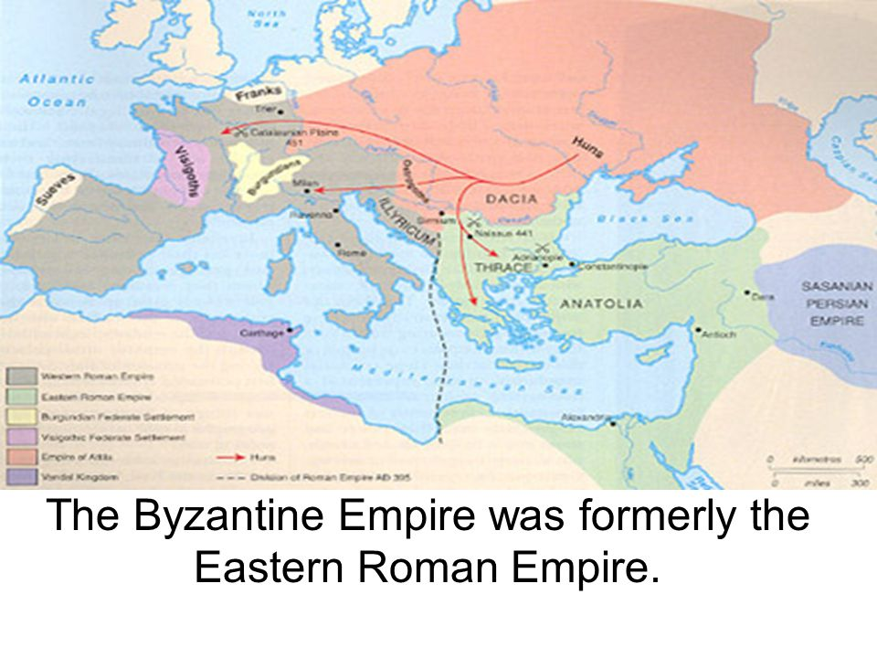 The Byzantine Empire was formerly the