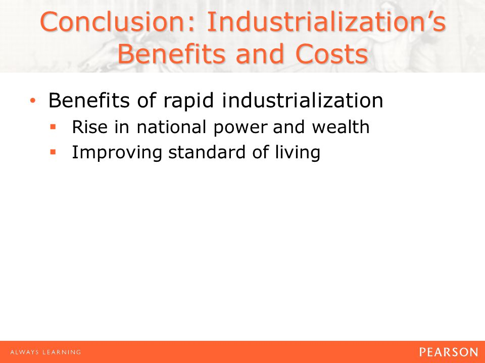 the cost of rapid industrialization essay The umbrella of roman law further reduced transaction costs  in the 2nd  century bce, a period of rapid economic change, urbanization, and.