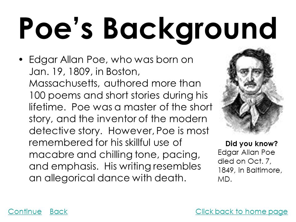 edgar allan poe literary analysis essays You May Also Find These Documents Helpful