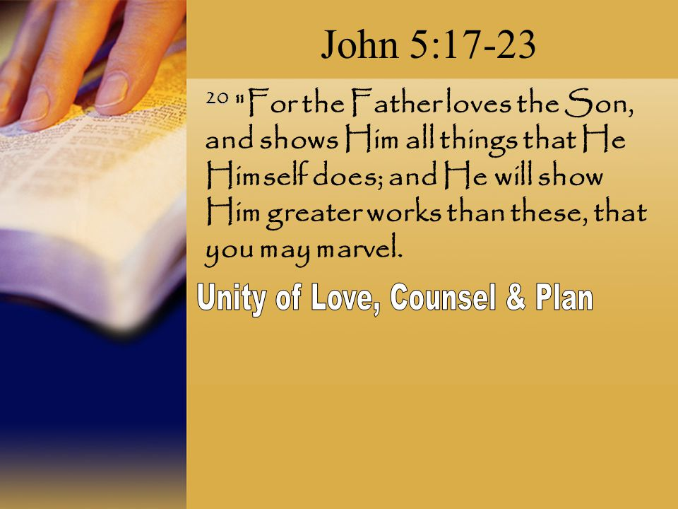 Unity of Love, Counsel & Plan