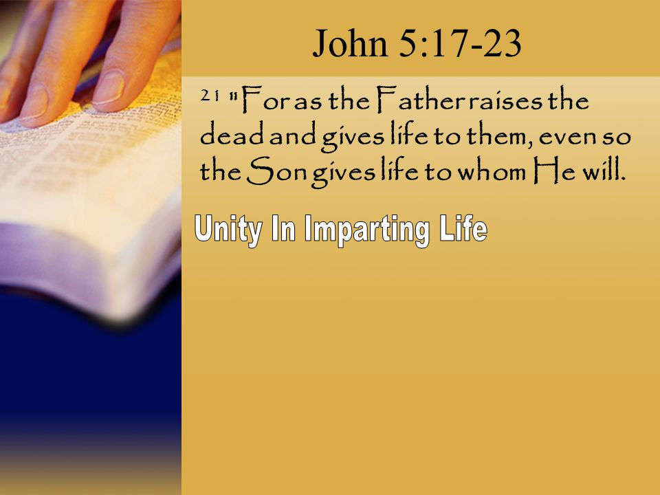 Unity In Imparting Life