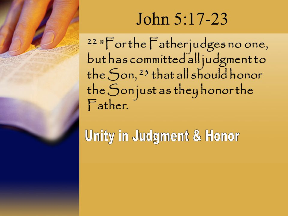 Unity in Judgment & Honor