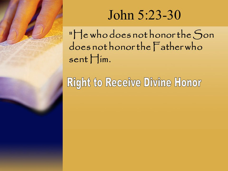 Right to Receive Divine Honor
