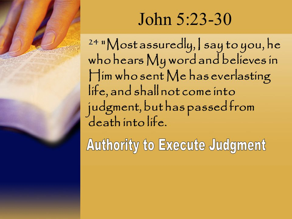 Authority to Execute Judgment