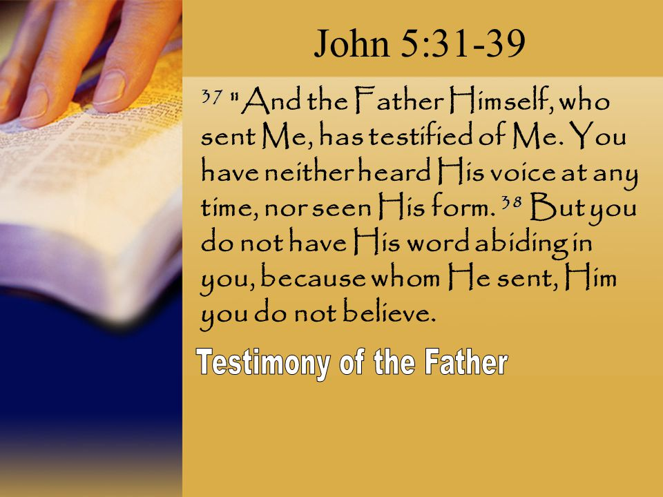 Testimony of the Father
