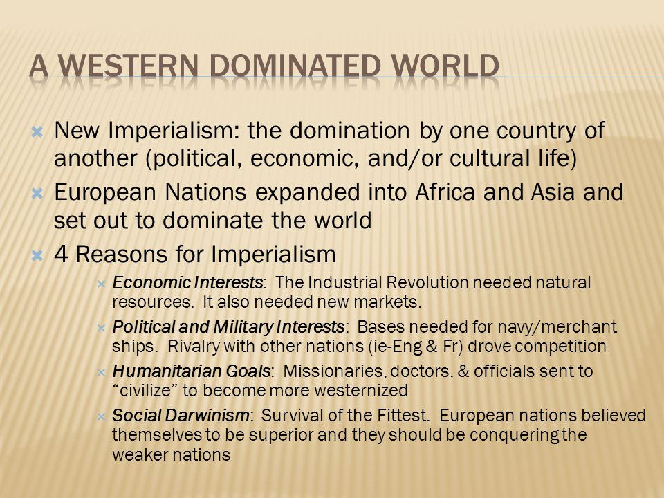 Western domination of asia