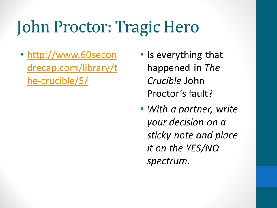 act summing up and essay planning ppt video online  14 john proctor tragic hero