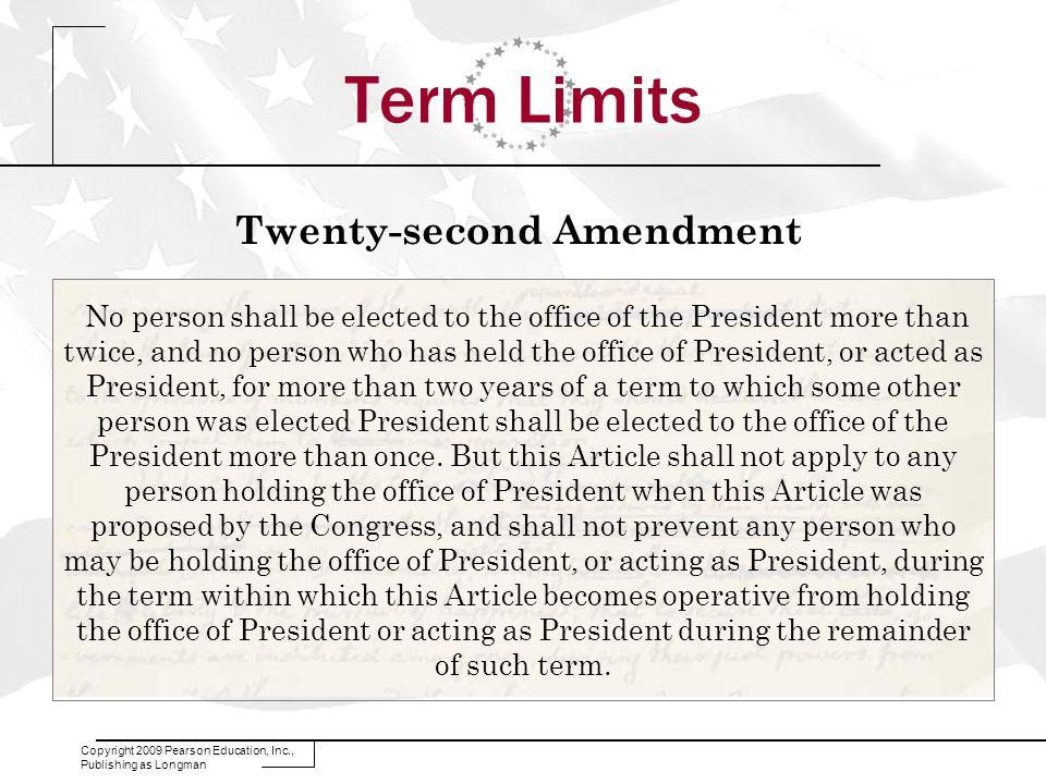twenty eighth amendment congressional term limits