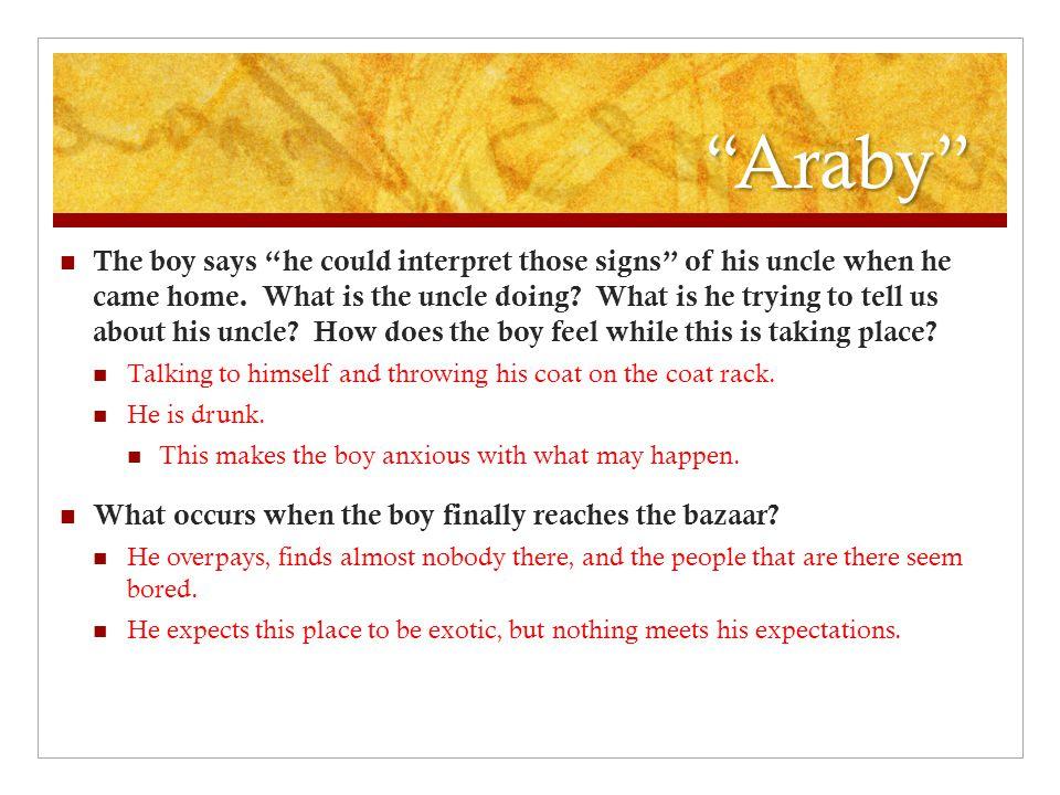 Epiphany in araby